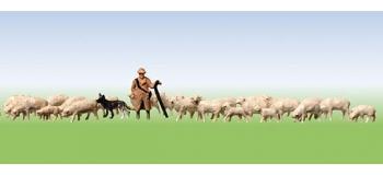 Modélisme ferroviaire : FALLER F158051 - Berger + Moutons