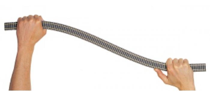 FL6109 - Rail flexible, 800 mm, Profi, imitation béton - Fleischmann