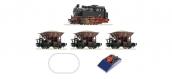 Modélisme ferroviaire : ROCO - R51159  - Coffret de départ analogique: Locomotive à vapeur série 80 avec train de marchandises, DB