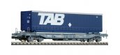 Modelisme ferroviaire :  FLEISCHMANN FL845350 - Wagon porte-containers