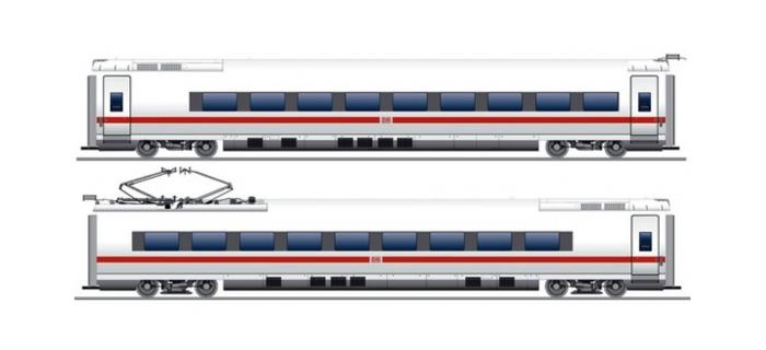 Modélisme ferroviaire : FLEISCHMANN FL448201 - Set 2 voitures ICE3 Br407 DB