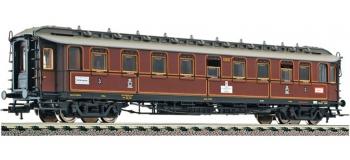 Modélisme ferroviaire : FLEISCHMANN FL515306 - Voiture pour train rapide 3ème classe de type C 4ü Pr08, K.P.E.V.