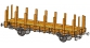 Train électrique : FLEISCHMANN FL520903 - Wagon plat à ranchers AL