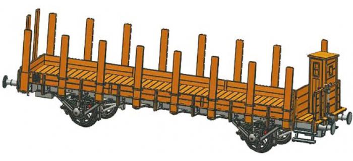 Train électrique : FLEISCHMANN FL520905 - Wagon plat à guérite DRG