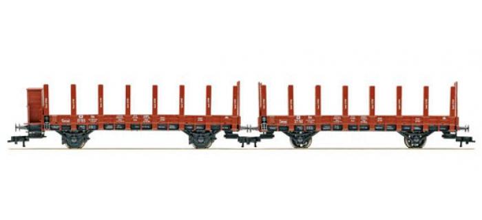 Modélisme ferroviaire : FLEISCHMANN FL520955 - Set 2 wagons plats K.P.E.V.