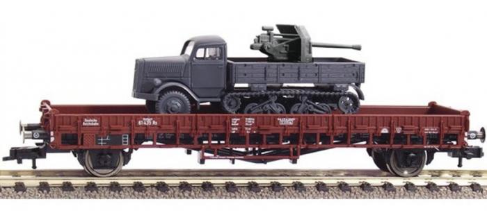 Modélisme ferroviaire : FLEISCHMANN FL526204 - Wagon plat+opel Blitz DRG