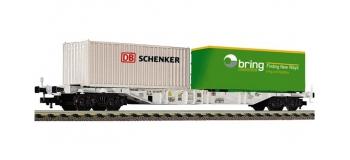 Modélisme ferroviaire : FLEISCHMANN F524105 - Wagon porte container NSB