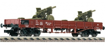 Modélisme ferroviaire : FLEISCHMANN FL526204 - Wagon plat + M107 DR