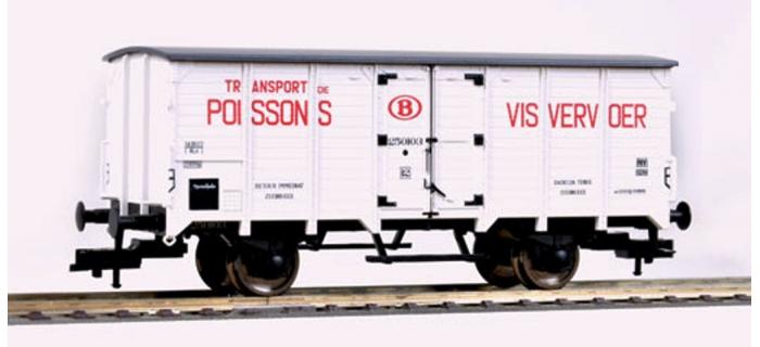 Modélisme ferroviaire :  FLEISCHMANN FL534147 - Wagon couvert SNCB.