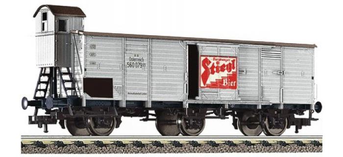 Modélisme ferroviaire : FLEISCHMANN FL538006 - Wagon 3 essieux Stiegl OBB