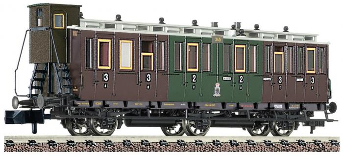 fleischmann 806502 Voiture à 3 essieux à compartiments de 2e/3e classe, K.P.E.V