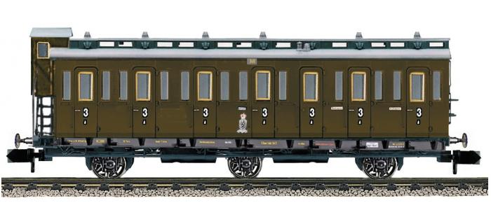 fleischmann 807003 Voiture 3 essieux à compartiments 3e classe type C3 pr 11, K.P.E.V
