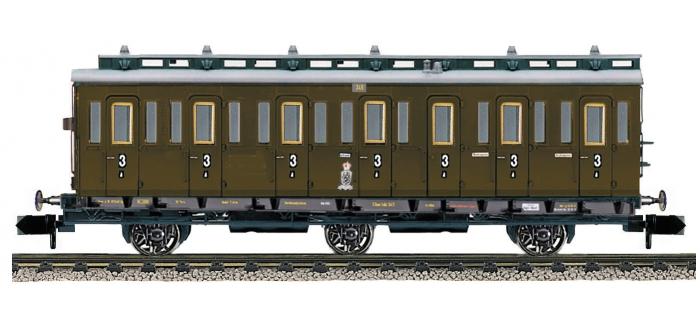 fleischmann 807004 Voiture 3 essieux à compartiments 3e classe type C3 pr 11, K.P.E.V.