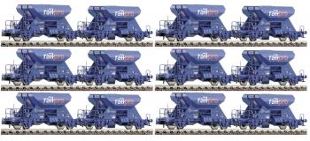 fleischmann FL822900 Coffret de 12 wagons-trémies à ballast, Voestalpine Railpro
