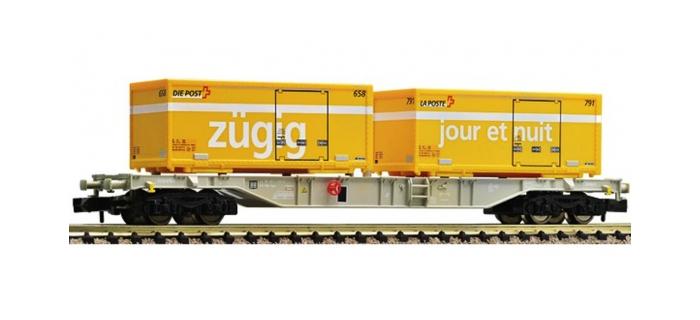 Modélisme ferroviaire : FLEISCHMANN FL824403 - Wagon porte-container SBB