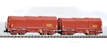Modélisme ferroviaire :   FLEISCHMANN FL838815 - Set 2 wagons télescopique SNCF N
