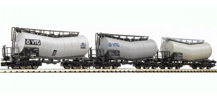 Train électrique : FLEISCHMANN FL846002 - Set 3 wagons citernes SNCF N