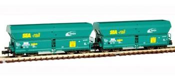 Train électrique : FLEISCHMANN FL852305 - Set 2 wagons trémie SNCB N
