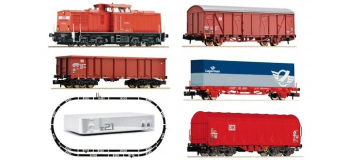 Train électrique : FLEISCHMANN FL931484 - Coffret débutant « BR 204 avec train de marchandises de la DB AG » avec z21 Zoom