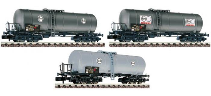 Train électrique : FLEISCHMANN FL881200 - Set 12 wagon citernes EVA DB N