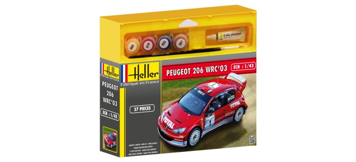 Maquettes : HELLER HELL50113 - Peugeot 206 WRC '03