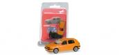 Modélisme ferroviaire : Herpa 012355-006 - VW Golf III orange
