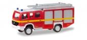 Modélisme ferroviaire : Herpa 066717 - camion de pompiers Mercedes Atego HLF 20 Fire Département