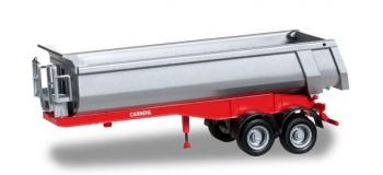 Modélisme ferroviaire - HERPA HER076036-002 - Remorque à benne basculante Carnehl à 2 essieux