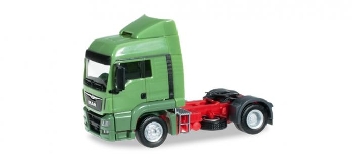 Train électrique :  HERPA HER302388-002 - MAN TGS LX Euro 6 tracteur rigide, vert réséda