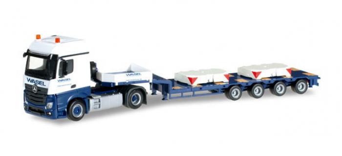 MODELISME FERROVIAIRE : HERPA HER304641 - Mercedes-Benz Actros BigSpace demi surbaissé semi-remorque