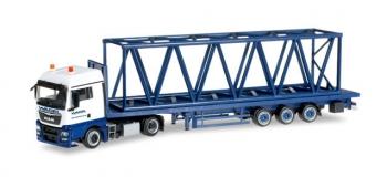 véhicule miniature pour MODELISME FERROVIAIRE HERPA HER304689 - Camion semi remorque MAN TGX XLX