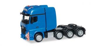 Train électrique : HERPA HER304740 - Tracteur de camion MB Actros SLT bleu