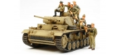 Maquettes : TAMIYA TAM32405 - Panzer III et Figurines D.A.K.
