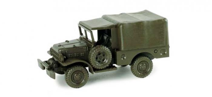 Modélisme ferroviaire : HERPA HER743470 - Véhicule militaire Dodge ancien transporteur de peloton