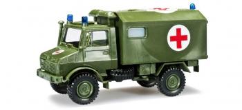 Train électrique : HERPA HER744553 - Unimog U 1300 ambulance