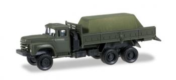 Train électrique : HERPA HER745260 - Véhicule militaire ZIL 133 Gya pick-up avec une charge sous la toile
