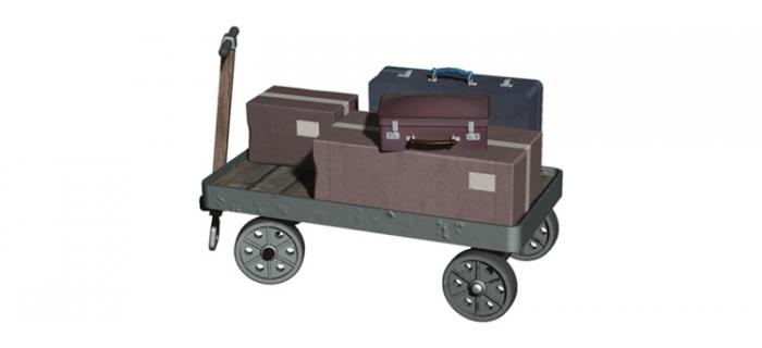 Hornby R8676 Chariot de quai avec valises
