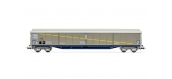 Modélisme ferroviaire  : JOUEF HJ6163 - Wagon ouvert à bogies livrée Habils avec portes latérales roulantes
