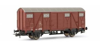 Wagon couvert, décoration marron