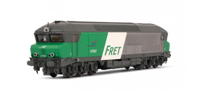 HJ2229 - Locomotive diesel CC72067 livrée Fret, DCC Sonorisée - Jouef