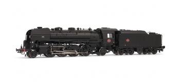 HJ2185 - Locomotive vapeur 141 R 1257 - tender fuel 9,5 M3, dépôt de Vénissieux - Jouef