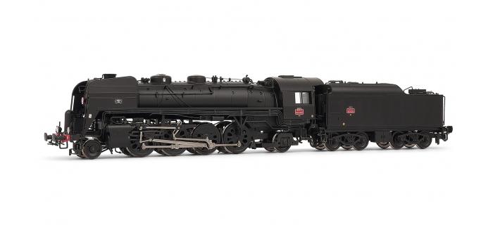 HJ2186 - Locomotive vapeur 141 R 1257 - tender 9,5 M3, dépôt de Vénissieux DC SONORISEE - Jouef