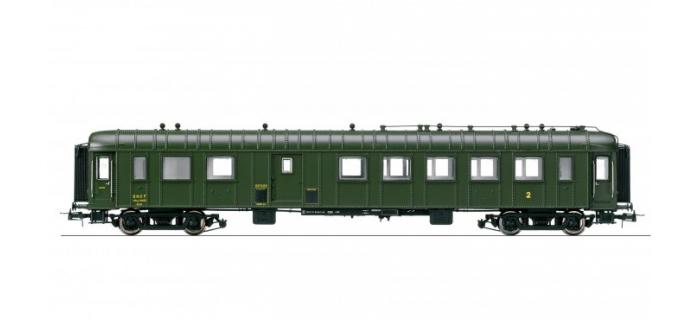HJ4075 - Voiture OCEM RA mixte 2ème classe/fourgon à bagages, époque III, SNCF * - Jouef