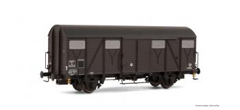 HJ6099 - Wagon couvert G4 à frises, SNCF - Jouef
