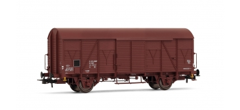 HJ6100 - Wagon couvert G4 à frises, SNCF - Jouef