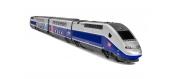HJ2362 - Coffret TGV 2N2 EURODUPLEX, livrée bleu avec logo carmillon, SNCF - Jouef