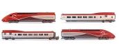 HJ2358S - Coffret TGV Thalys PBKA, 4 éléments, SNCF - Digital Son - Jouef