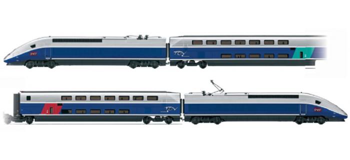 HJ1027 Coffret TGV DUPLEX * train electrique
