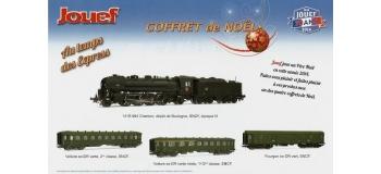 Train électrique : JOUEF HJ1588- Coffret locomotive à vapeur 141 R 994 SNCF + 2 voitures voyageurs et 1 fourgon