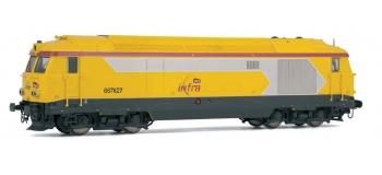 JOUEF HJ2142 locomotive diesel BB67627 infra train électrique